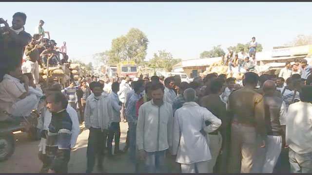 Dharna farmers protest