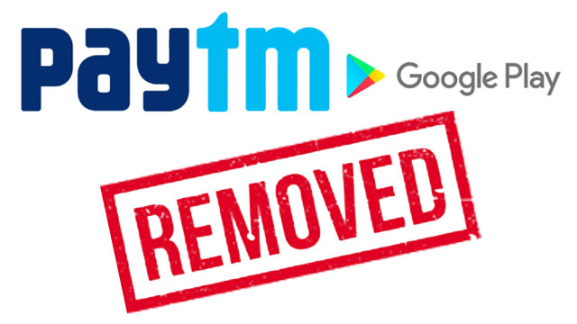 Paytm app removed from the Google Play Store – big blow to Paytm First Games ahead of the IPL starting tomorrow